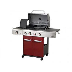 Outback Jupiter 4 Burner Gas BBQ - Red