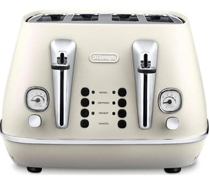 DeLonghi Distinta Toaster - Cream