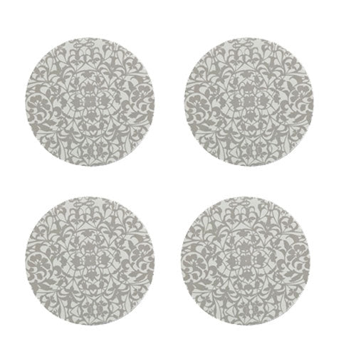 Denby Monsoon Filigree Silver Round Coaster 4 Pack