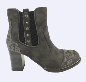 Mustang ladies ankle boots 1372-503-20 grey, heeled
