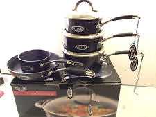 Stellar Black 5 Piece Saucepan Set