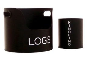 Manor Log and  Kindling Tubs Set of 2