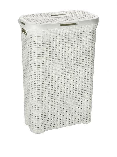 JVL Linen Basket Large White