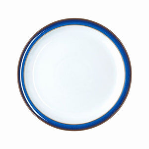 Denby Imperial Blue Medium Dessert Salad Plate