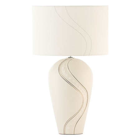 BELLEEK LIVING SILVER RIPPLE LAMP-UK FITTINGS
