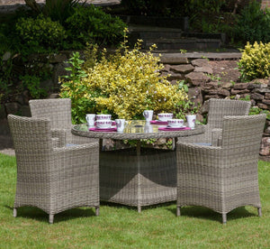 Royalcraft Wentworth 4 Seater Carver Set - JUNE DELIVERY