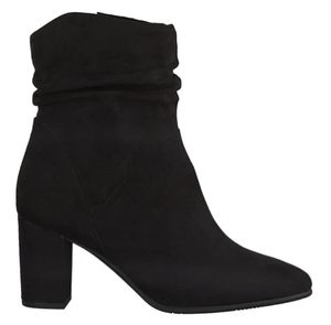 Marco tozzi ladies ankle boots 25307-35 in black suede effect