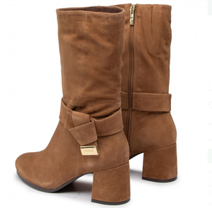 Caprice ladies boots 25326-25 in mud suede, calf length