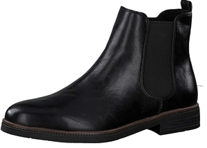 Marco Tozzi ladies ankle boots 2-25331-35 in black antic, Chelsea style