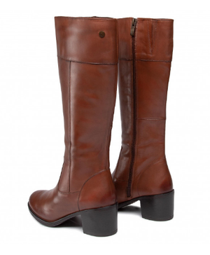 Caprice boots 125551-25 cognac knee high leather