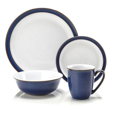 Denby Imperial Blue 16 Piece Boxed Tableware Set