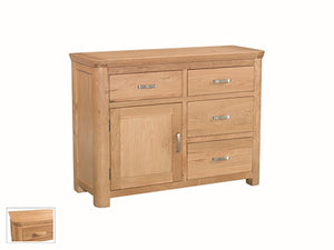 Curved Oak Small Sideboard