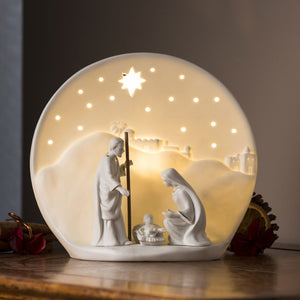 BELLEEK LIVING NATIVITY LUMINIARE