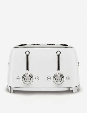 Smeg White Toaster 4 Slice