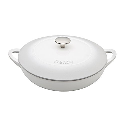 Denby Cast Iron Shallow Casserole, Natural Canvas, 30 cm - Jacksons of Saintfield
