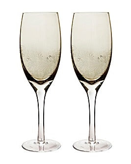 Denby Lucille Gold White Wine Glasses Pack 2