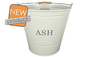 Manor Ash Bucket With Lid Cream 0349 - Jacksons of Saintfield