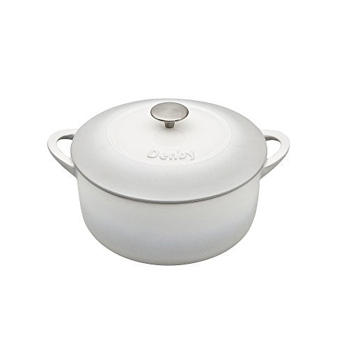 Denby Natural Canvas Cast Iron 24Cm Round Casserole, 24 cm - Jacksons of Saintfield