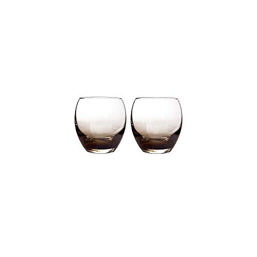 Denby 0.35 Litre Small Glass Halo Praline Small Tumbler Pack of 2