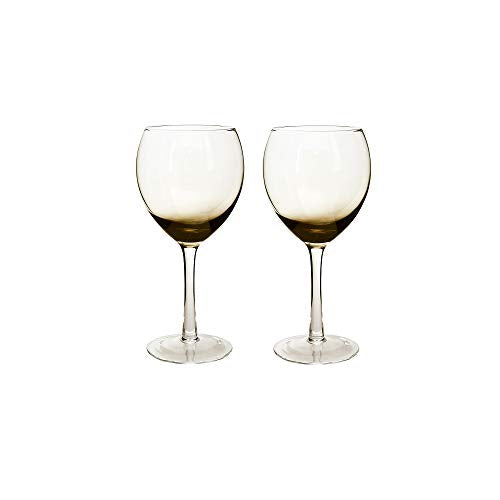 Denby 0.475 Litre Glass Halo Praline Wine Glass Pack of 2 Red