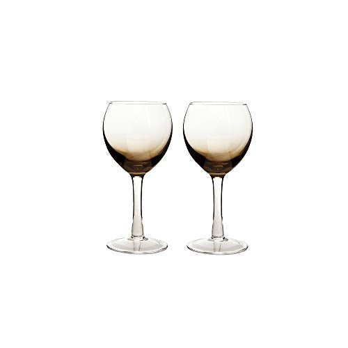 Denby 0.33 Litre Glass Halo Praline Wine Glass Pack of 2