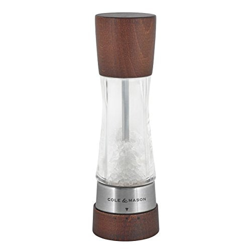 Cole & Mason Gourmet Precision Derwent Forest Salt Mill, Wood and Acrylic, 19 cm
