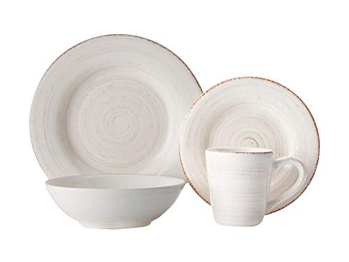 Casa Domani Portofino Quartz Dinner Set Ironstone Gift Boxed 16 Pieces