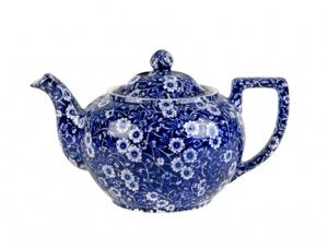 Burleigh Dark Blue Calico Teapot Large 1 litre