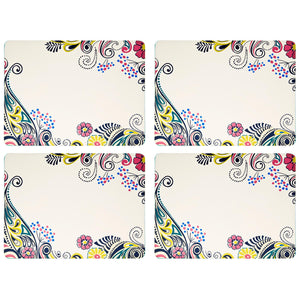 Denby Monsoon Cosmic Cream Placemats Pack of 4