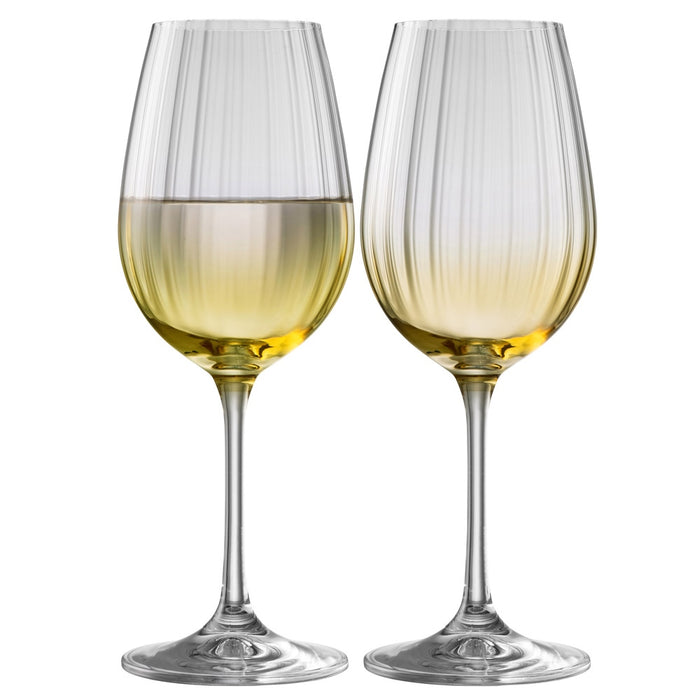 Galway Crystal Erne Wine Amber Set of 2