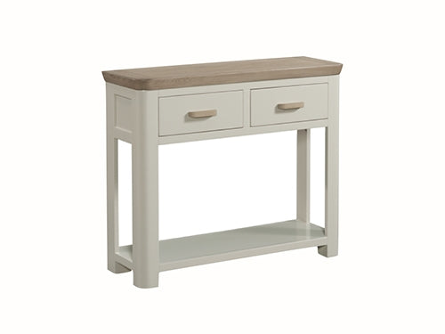Oak 2 Drawer Console - Grey