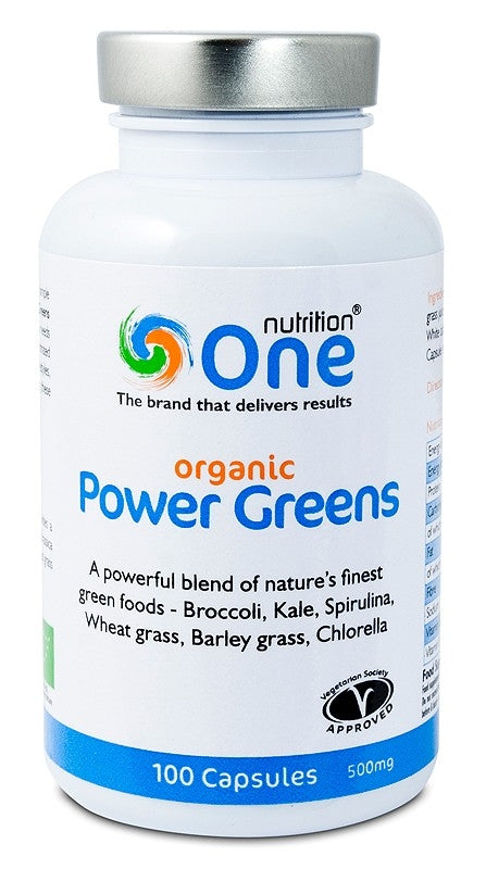 Nutrition One Power Greens 100 Capsules 500mg