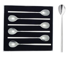 Stellar Rochester Polished 6 Piece Latte/Sundae Spoon Gift Box Set Ref: BL46