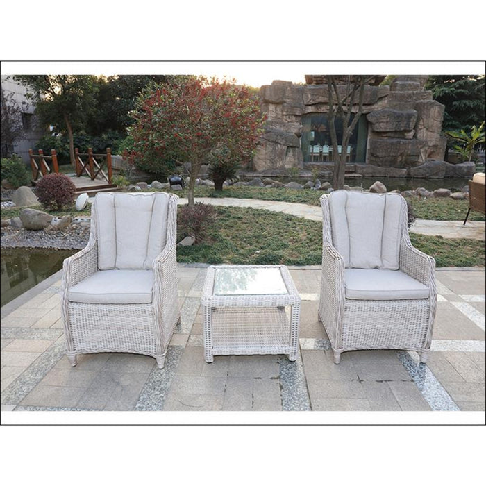 Seychelles Dual Set 2 x Chairs & Cushions & Side Table