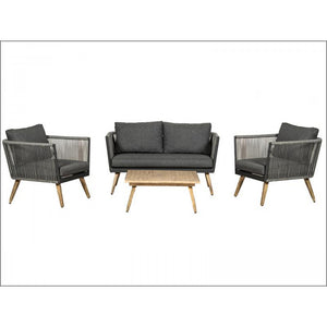 Milan 4 Seater 4 Piece Lounge Coffee Set