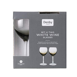 Denby Halo White Wine Glasses Pack of 2 0.33L