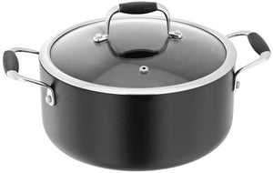 Stellar 2000 24cm Casserole 4.0L Black Non-Stick Suitable for All Hobs S236