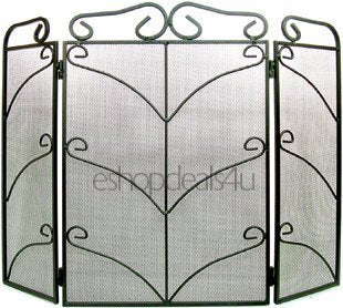 Inglenook Tri-Fold Fireplace Safety Spark Guard/Fire Screen - Jacksons of Saintfield