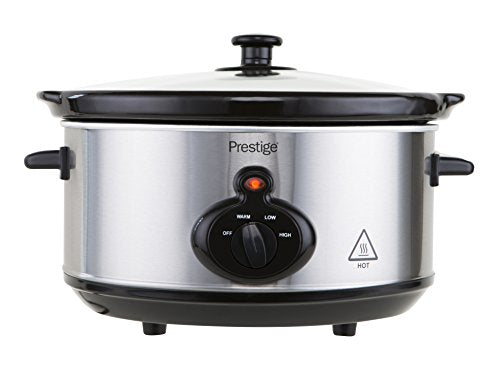 Prestige Mechanical Slow Cooker 3.5 Litre Silver 3.5 Litre