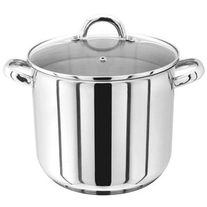 Judge 24cm Stainless Steel Stockpot With Vented Glass Lid PP82