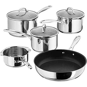 Stellar 7000 5 Piece Draining Saucepan Set S7C1D, Induction Safe