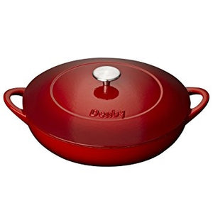 Denby Cast Iron Shallow Red