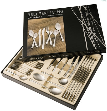 Belleek Living Occasions 44 Piece Cutlery Set