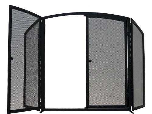 Manor Gateway Fireguard 3 Fold Black 1769 - Jacksons of Saintfield