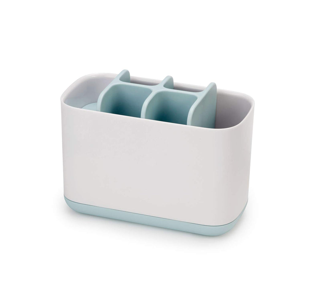 Joseph Joseph Bathroom Easy-Store Toothbrush Caddy White/Blue Large
