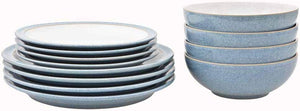 Denby Elements 12 Piece Dinner Set Blue