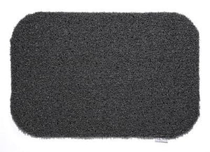 HUG RUG Grey Charcoal Design 80 x 100cm Machine Washable, Dirt Trapper Door Mat / Runner