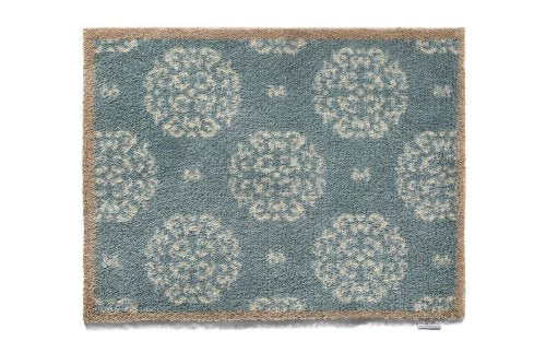 Hug Rug Home 15 Eco-Friendly Absorbent Dirt Trapping Indoor Washable Mat, 65cm x 85cm, Blue Allium Heads