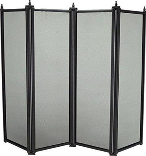 Manor 2092 Regency 4 Fold Screen Black - Jacksons of Saintfield