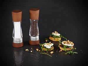 Cole & Mason Gourmet Precision Derwent Forest Pepper Mill, Wood and Acrylic, 19 cm